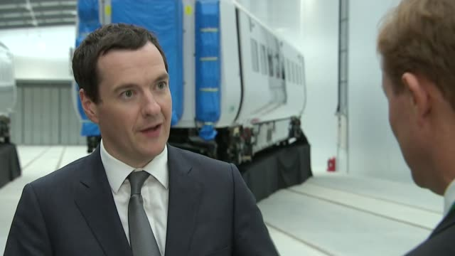 new investment in the north east / report highlights need for transport investment george osborne mp interview sot hitachi has chosen to invest in... - darlington north east england stock videos & royalty-free footage