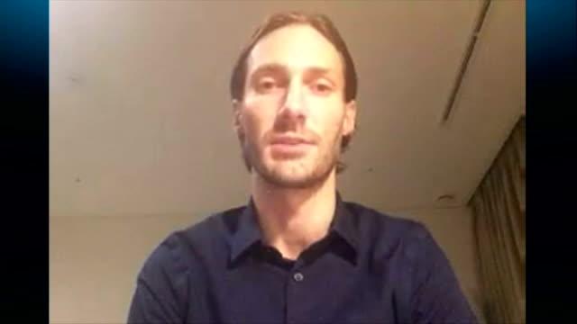 new islamic state propaganda video released featuring british hostage john cantlie usa int matthew van dyke interview via skype sot - propaganda bildbanksvideor och videomaterial från bakom kulisserna