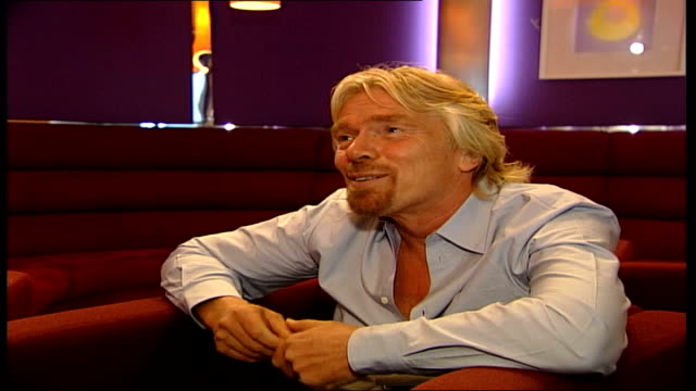 branson has cameo role; england: london: int sir richard branson interview sot - we are both british / we both are quite adventurour and we like to... - cameo brooch stock videos & royalty-free footage