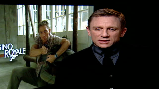 new 'james bond' film opens daniel craig interview sot it's not madness it's fun/ kind of painful fun but fun - james bond fictional character stock videos and b-roll footage