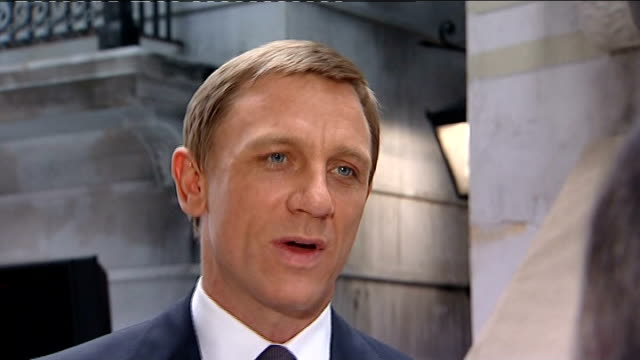 new james bond movie and new harry potter movie to be released within two weeks of each other craig along as greets nannar sot daniel craig interview... - daniel craig actor stock videos & royalty-free footage