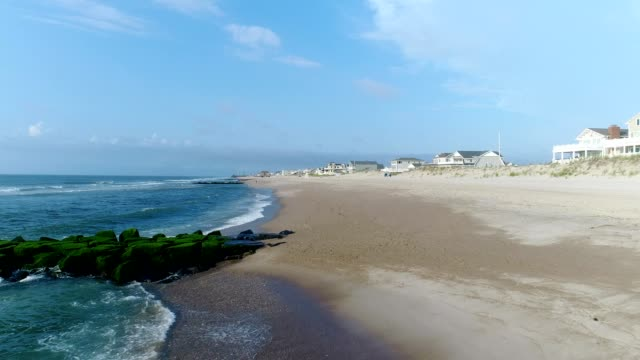 new jersey coast line at the shore low angle view - eastern usa stock videos and b-roll footage