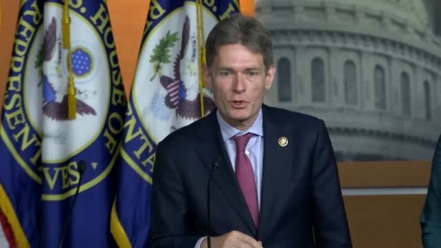 vídeos y material grabado en eventos de stock de new jersey congressman tom malinowski says at a news conference on legislation set to pass the house to overemphasize and support for nato that... - ceremonia de reapertura