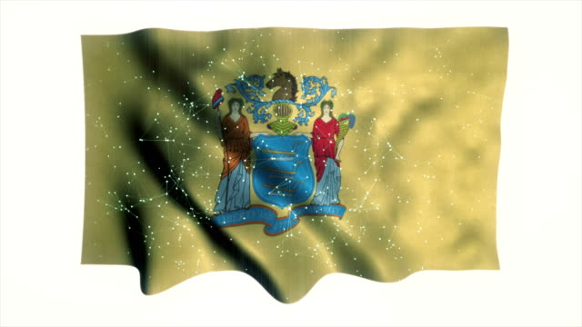 new jersey flag - country geographic area stock videos & royalty-free footage