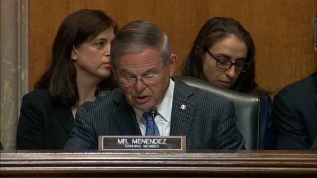 New Jersey Senator Bob Menendez says at a Foreign Relations Committee hearing that the State Department was about to allow internet posting of...