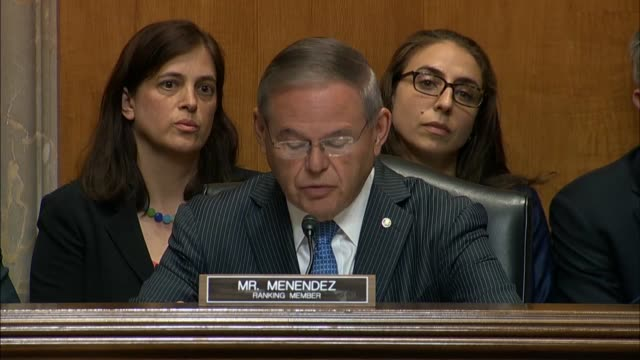 New Jersey Senator Bob Menendez says at a Foreign Relations Committee hearing that members had only seen a vague agreement to make more promises...