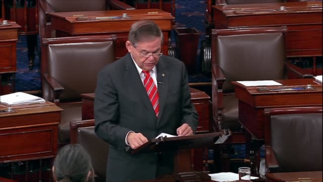 New Jersey Senator Bob Menendez says in debate on the First Step Act that mandatory minimum sentences are among the harshest in the nation the...