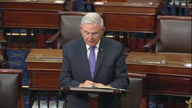 new jersey senator bob menendez says in senate floor remarks on providing state and local government budget relief in a comprehensive coronavirus... - natural land state stock videos & royalty-free footage