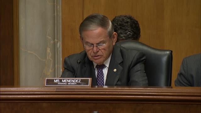 New Jersey Senator Bob Menendez tells US Ambassador to Yemen nominee Christopher Henzel that the Trump administration opposes a resolution to...