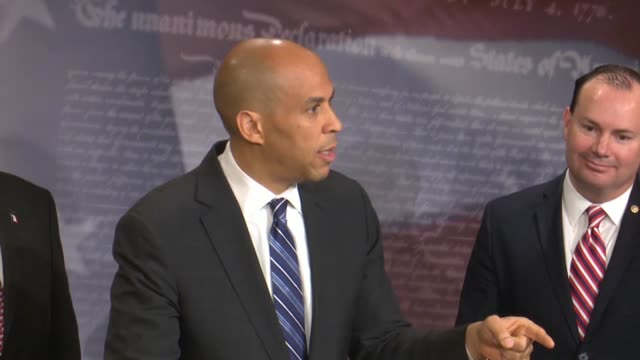 new jersey senator cory booker says at a bipartisan press conference after passage of criminal justice reform called the first step act that... - sick prisoner stock videos & royalty-free footage