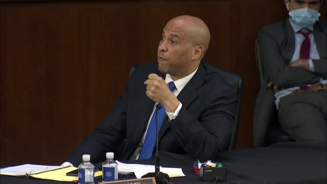 new jersey senator cory booker says at a senate judiciary committee business meeting in debate on whether to report the supreme court nomination of... - young men stock videos & royalty-free footage