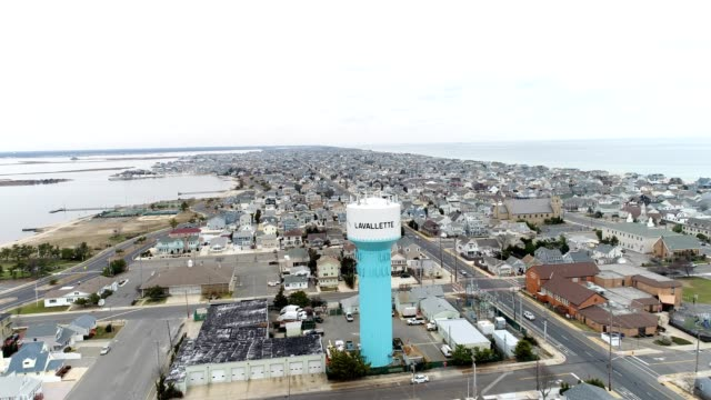 New Jersey shore town, water tower