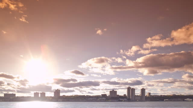 new jersey skyline late afternoon | timelapse