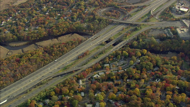 stockvideo's en b-roll-footage met aerial ws new jersey turnpike interstate 95 / new jersey, usa - new jersey