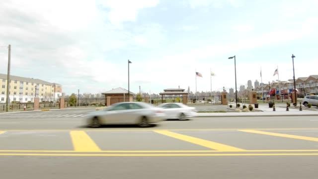 ニュージャージー xxxxiv シリーズ左側スタジオ プロセス プレート背景を運転 - ムービングプロセスプレート点の映像素材/bロール