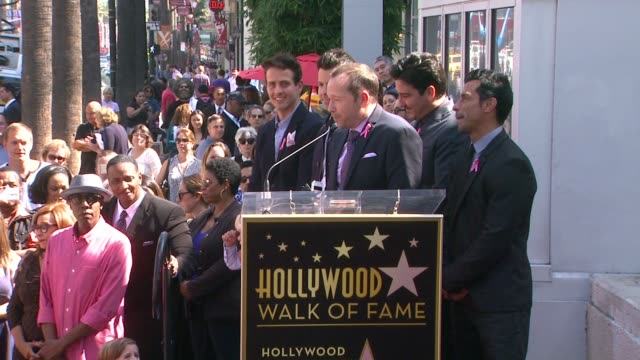 CHYRON New Kids On The Block honored with star on the Hollywood Walk of Fame in Hollywood CA on