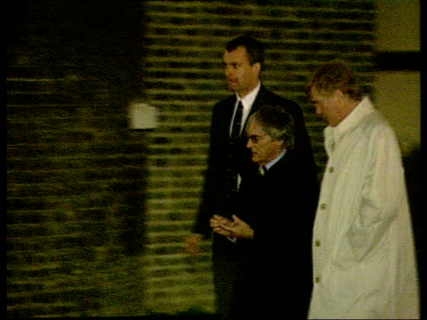 anniversary of election; lib downing street: ext at night formula 1 boss bernie ecclestone and others along to no 10 - bernie ecclestone stock videos & royalty-free footage