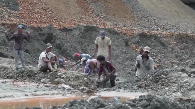 a new landslide buried workers in a remote jade mining region in northern myanmar the second such incident in just over a month - jade stock videos & royalty-free footage