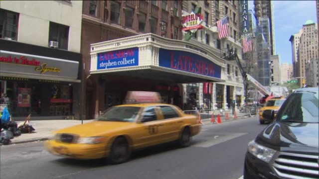 New Late Show marquee appears at the Ed Sullivan Theater