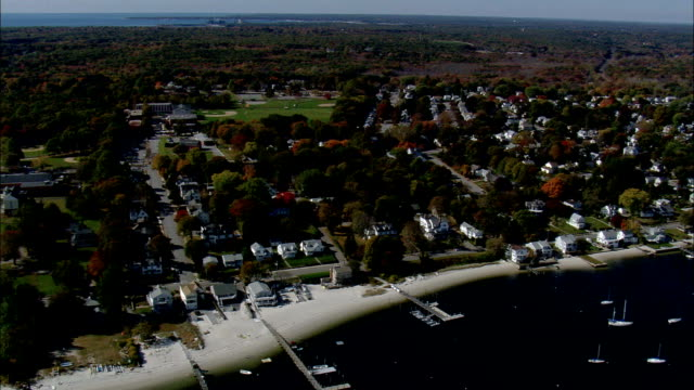 new london connecticut - aerial view - connecticut,  new london county,  united states - new london county connecticut stock videos & royalty-free footage