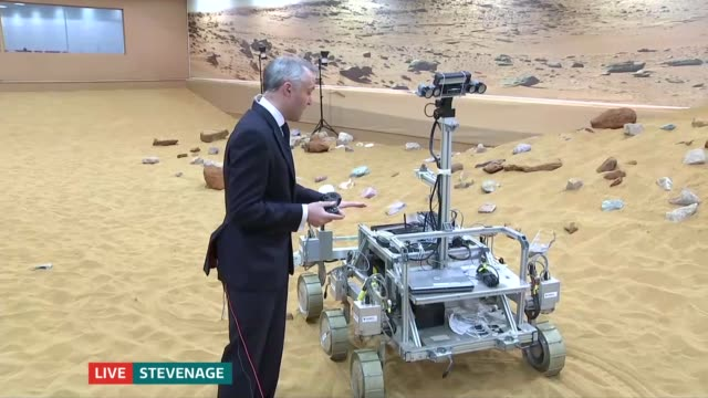 new mars probe launched as leadup to rover mission england hertfordshire stevenage int kat styles live interview on the mars rover project sot - stevenage stock videos and b-roll footage