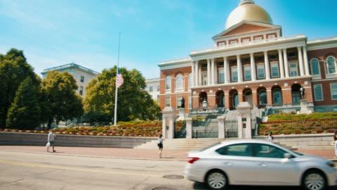 new massachusetts state house - boston massachusetts stock videos & royalty-free footage