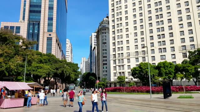 new maua square in rio de janeiro - square stock videos & royalty-free footage