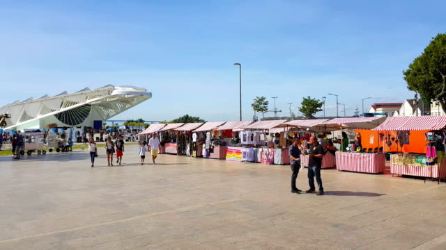 new maua square in rio de janeiro - museum stock videos & royalty-free footage