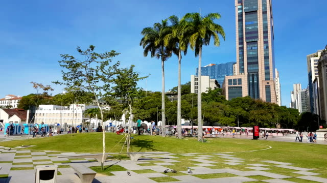 new maua square in rio de janeiro - courtyard stock videos & royalty-free footage