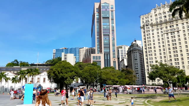 new maua square in rio de janeiro - town square stock videos & royalty-free footage