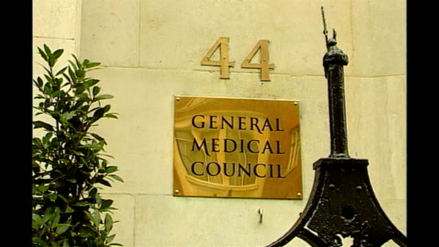 new medical regulations introduced by government ext sign 'general medical council' - general medical council stock videos & royalty-free footage