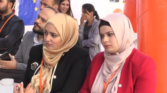 A new mental health center for refugees is opened in Turkey's capital Ankara on September 20 2018 The center was opened by Relief International with...
