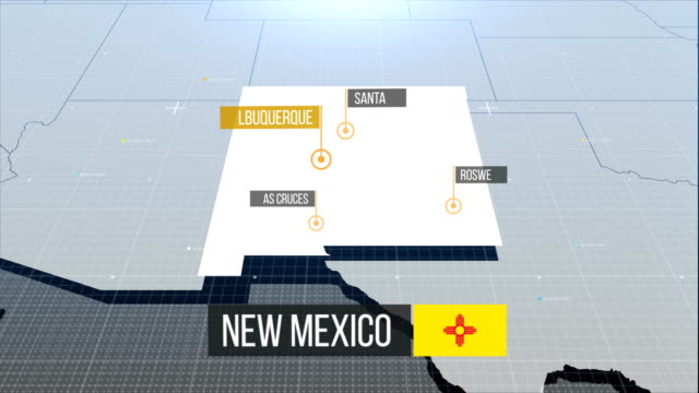 new mexico map - new mexico stock videos & royalty-free footage