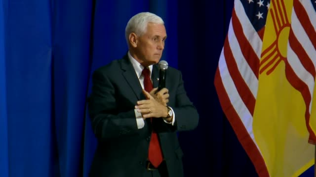 A New Mexico resident tells Indiana Governor Mike Pence at a campaign town hall as running mate to Donald Trump that a Civil War could erupt if the...