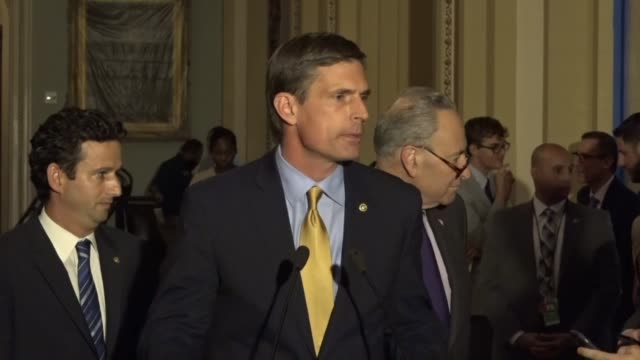 new mexico senator martin heinrich says at a weekly briefing that he is not normally given to hyperbole but that a bill passed by the house was mean... - medicaid stock videos and b-roll footage