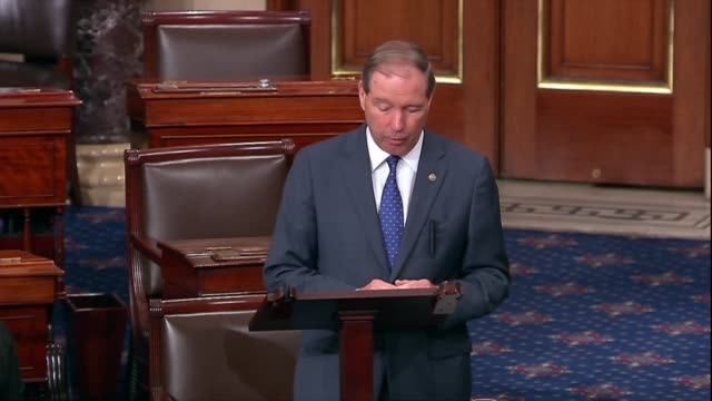 new mexico senator tom udall argues in floor debate on the supreme court nomination of judge brett kavanaugh that with so much unknown there were... - outsourcing stock videos & royalty-free footage