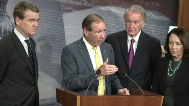 new mexico senator tom udall says at a press conference with senate democrats that as vice chair of the senate indian affairs committee that dealing... - arctic national wildlife refuge stock videos & royalty-free footage