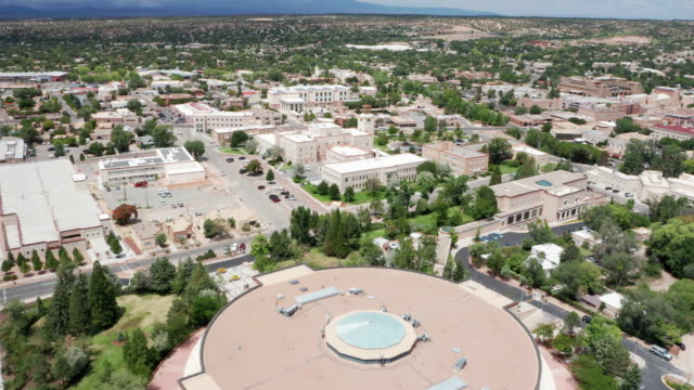 new mexico state capitol building - the roundhouse - new mexico stock videos & royalty-free footage
