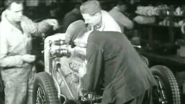 new mg6 launched at longbridge 1932 rover factory int footage of car being assembled on assembly line gv assembly line - longbridge stock videos & royalty-free footage