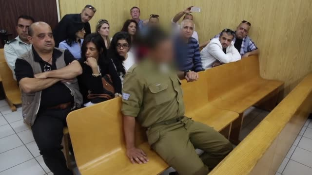 a new military appeals court hearing was opened tuesday in the case of an israeli soldier accused of shooting dead a captive palestinian in the... - court hearing stock videos and b-roll footage