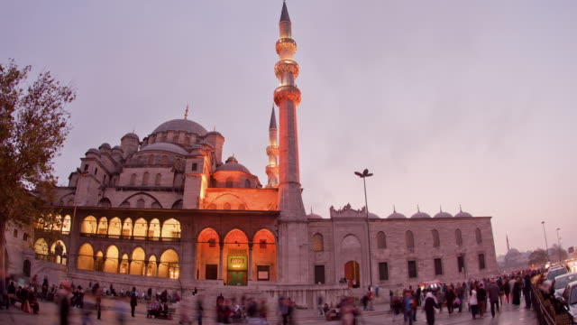 tl new mosque day to night - yeni cami mosque stock videos & royalty-free footage