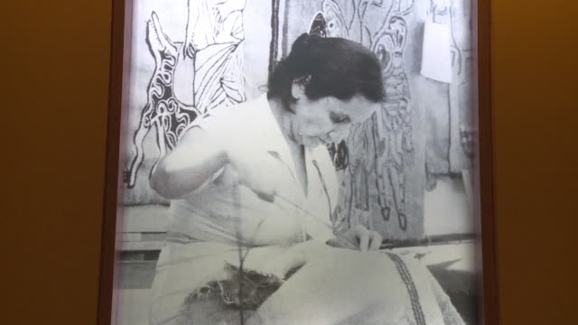 a new museum in santiago pays tribute to violeta parra one of latin americas most renowned songwriters who authored the famed anthem gracias a la vida - vida no mar stock videos & royalty-free footage