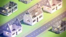 A new neighborhood under construction