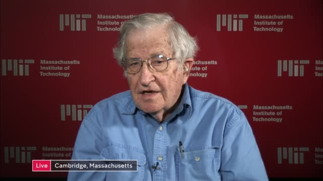 new noam chomsky books tackles the arrogance of power usa massachussetts massachussetts institute of technology int noam chomsky live interview sot... - subordination stock videos & royalty-free footage