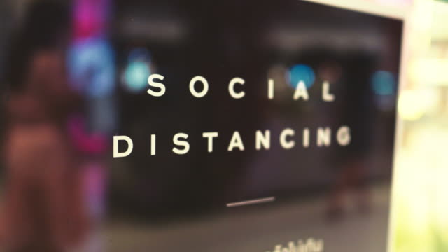 new normal : social distance - prevention stock videos & royalty-free footage