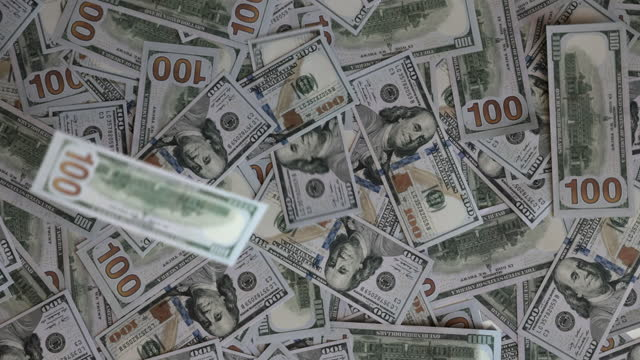 new one hundred dollars rain - american one hundred dollar bill stock videos & royalty-free footage