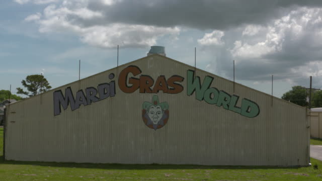 wgno new orleans mardi gras world warehouseon april 11 2017 - gras stock videos and b-roll footage