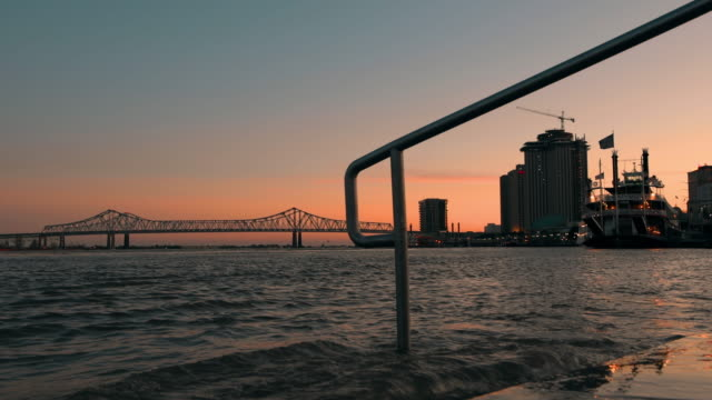 new orleans skyline - river mississippi stock videos & royalty-free footage
