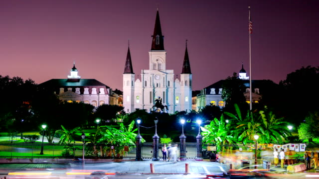 new orleans, la: st. louis cathedral - new orleans stock videos & royalty-free footage