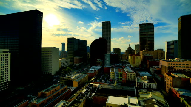 new orleans, la: bei sonnenuntergang - new orleans stock-videos und b-roll-filmmaterial